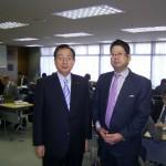 太田昭宏議員(左)