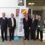 赤松広隆議員(右から3人目)