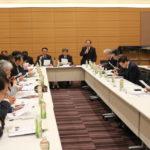 立憲民主党税理士制度推進議員連盟設立総会であいさつする小島会長